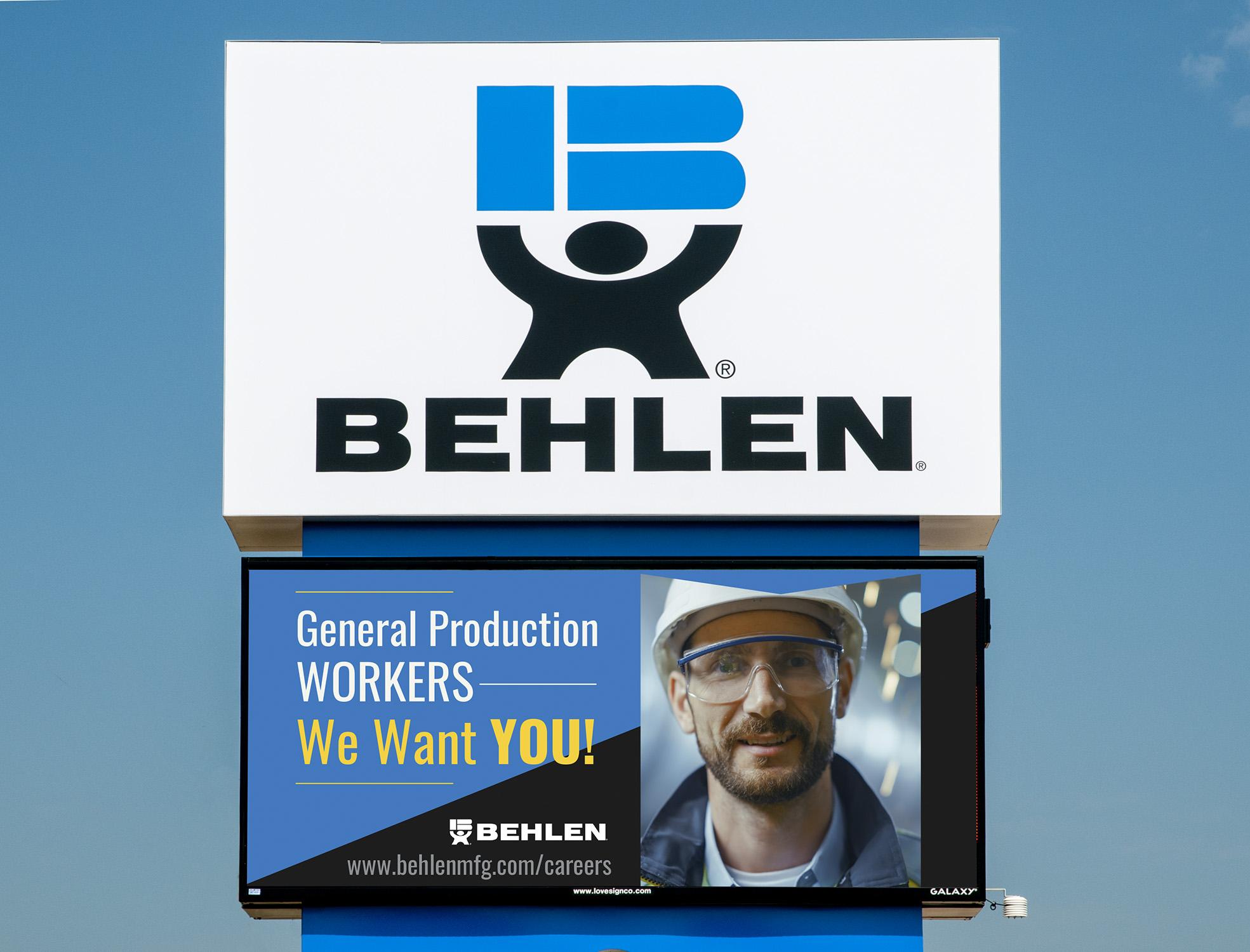 Behlen Lighted Billboard
